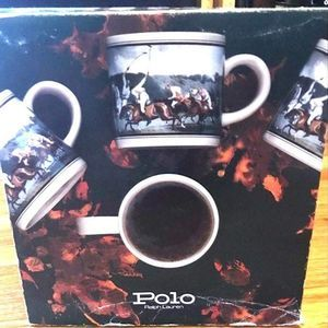 Ralph Lauren Polo Country Vintage Mugs Equestrian